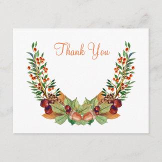 Autumn Laurel Fall Wedding Thank You Card