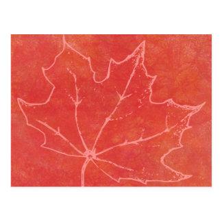 Autumn Leaf Art Postcard