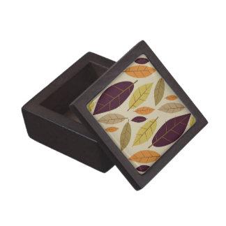 Autumn Leaf Assortment gift / trinket box Premium Jewelry Box