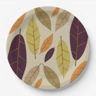Autumn Leaf Assortment paper plates 9 Inch Paper Plate