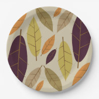 Autumn Leaf Assortment paper plates 9 Inch Paper Plate