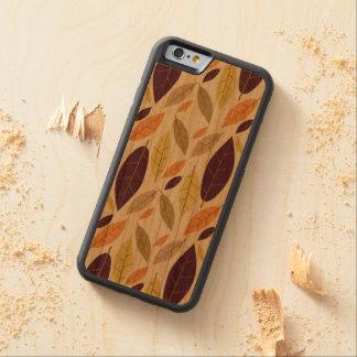 Autumn Leaf Assortment wood cellphone case
