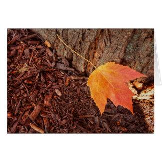 Autumn Leaf Blank Card