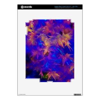 Autumn Leaf Blue Phase Zazzle Skin Skins For iPad 3