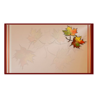 Autumn Leaf Business Card