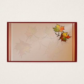 Autumn Leaf Business Card