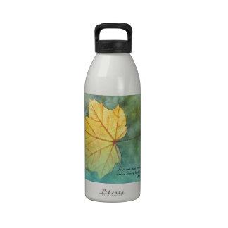 Autumn Leaf Camus Quote Drinking Bottle