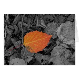 Autumn Leaf Card
