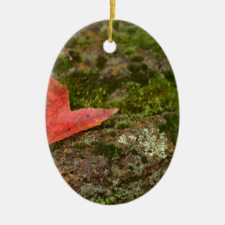 autumn leaf ceramic ornament