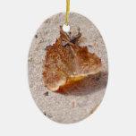Autumn leaf christmas tree ornament
