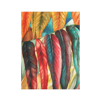 autumn leaf colors original stylised modern art canvas print