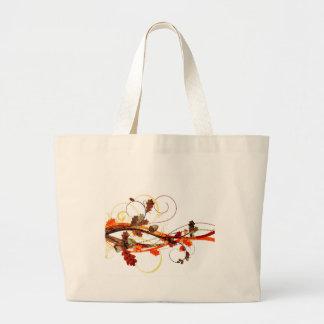Autumn Leaf Design Large Tote Bag