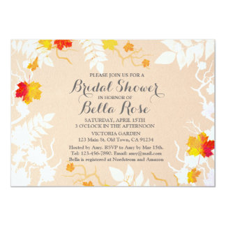 Autumn leaf fall bridal shower invites autm4