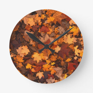 Autumn Leaf Fall Foliage Wallclocks