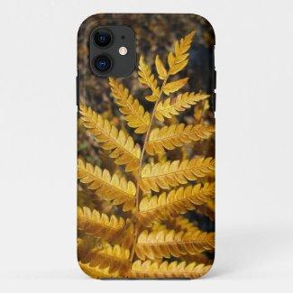 Autumn Leaf Golden Yellow Fern Photo Case-Mate iPhone Case