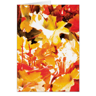 Autumn Leaf Greeting Card with Standard Envelope