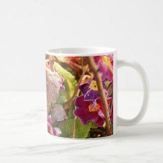 autumn leaf in early spring coffee mug