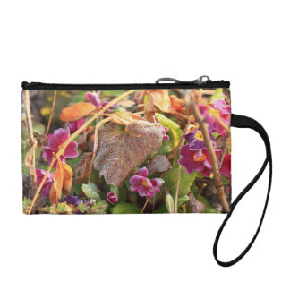 autumn leaf in early spring coin wallet