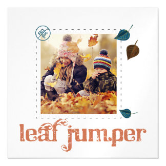 Autumn leaf jumper Photo thin magnets