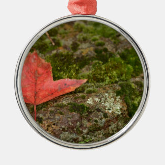 autumn leaf metal ornament