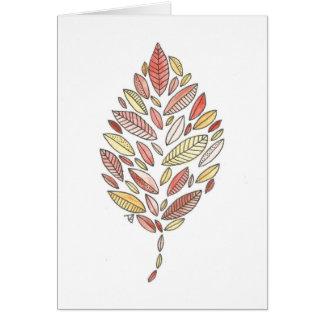 Autumn Leaf Notecard