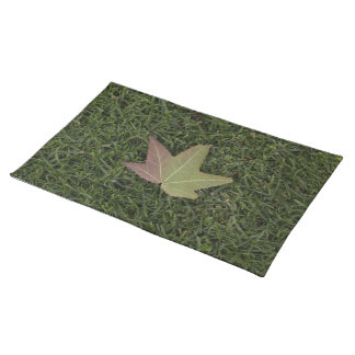 Autumn Leaf on Grass Cloth Placemat