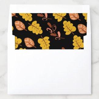 Autumn Leaf Pattern Holiday Envelope Liner