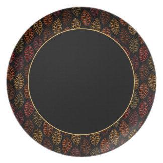 Autumn Leaf Pattern Melamine Plate