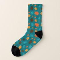 Autumn Leaf Pattern Socks
