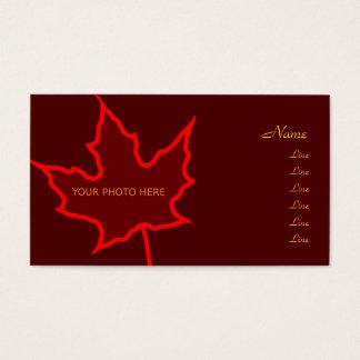 Autumn Leaf Photo Card