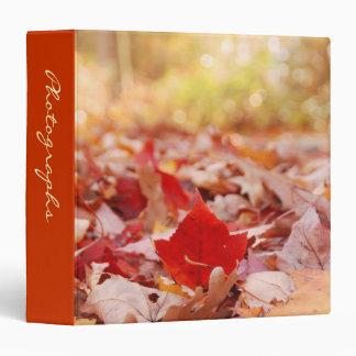 """Autumn Leaf Pile 1.5"""" Photo Album 3 Ring Binder"""