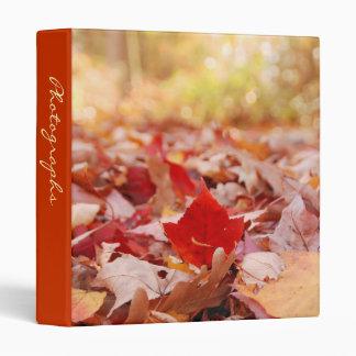 """Autumn Leaf Pile 1"""" Photo Album Binder"""