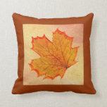 Autumn leaf pillow