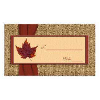 Autumn Leaf Placecards Business Card