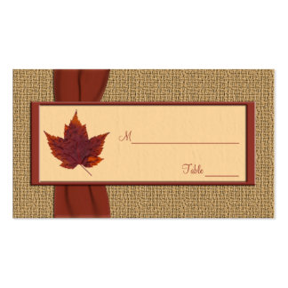 Autumn Leaf Placecards Double-Sided Standard Business Cards (Pack Of 100)