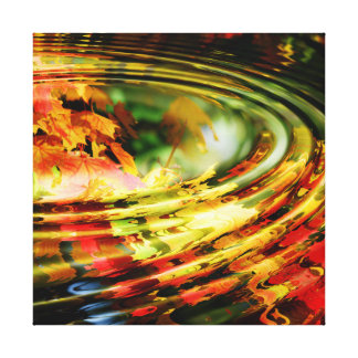Autumn Leaf Ripple Stretched Canvas Prints