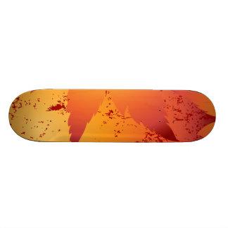 Autumn leaf skate board