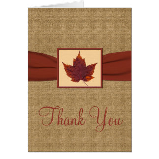 Autumn Leaf Thank You Note Card Greeting Card