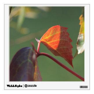 autumn leaf wall decal