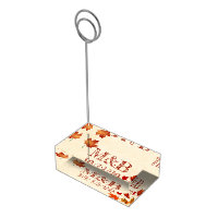 Autumn Leaf Wedding Table Number Card Holder