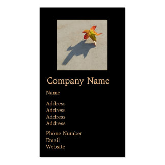 Autumn Leaf with Shadow Double-Sided Standard Business Cards (Pack Of 100)