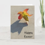 Autumn Leaf with Shadow Easter Greeting Cards