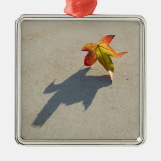 Autumn Leaf with Shadow Metal Ornament