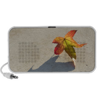 Autumn Leaf with Shadow Portable Speaker