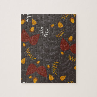 Autumn leafs and acorns jigsaw puzzle