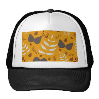 Autumn leafs and acorns trucker hat