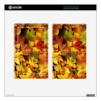 Autumn Leafs natural natural  Green Trees Earth Be Decal For Kindle Fire