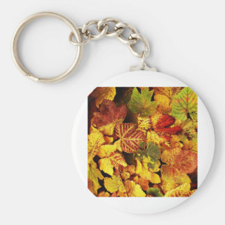 Autumn Leafs natural natural  Green Trees Earth Be Keychain
