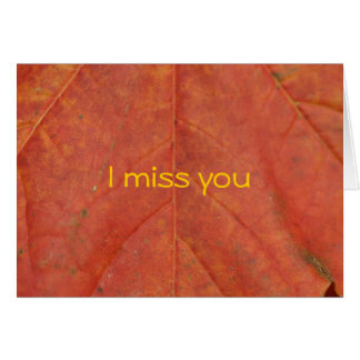 autumn leave card