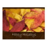 Autumn Leaves 1 Happy Holidays Post Cards